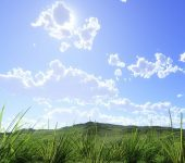 céu limpo com nuvem