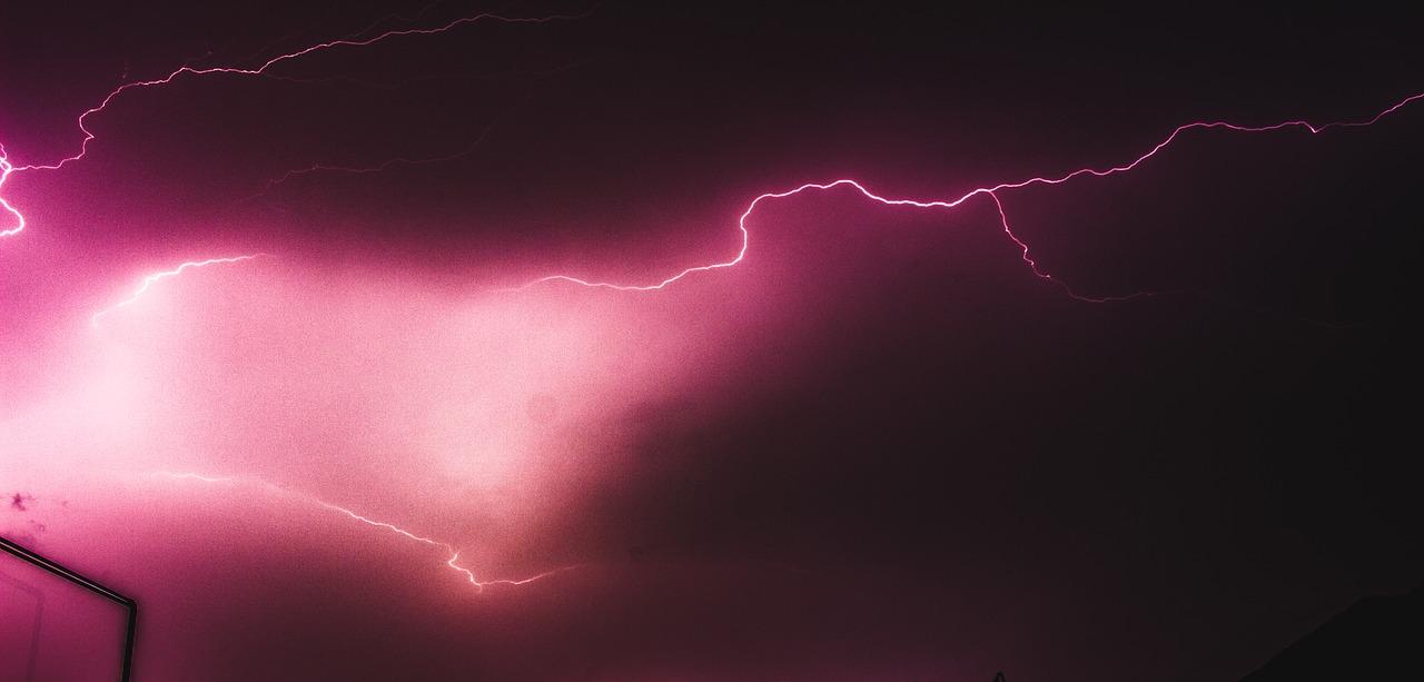 rosa e raios